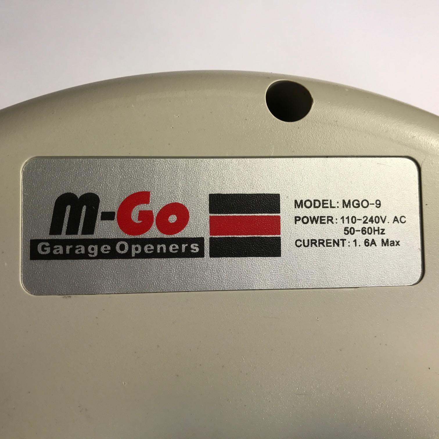 Garage Door Part M Go Mgo 9