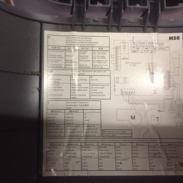 Garage Door Part Seip M50