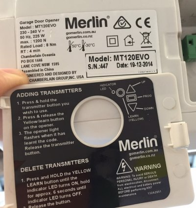 Garage Door Remote Merlin E950m Merlin E950m