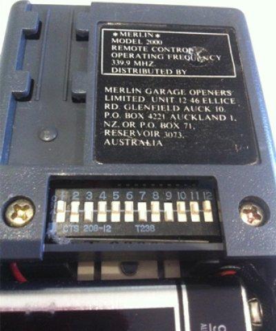 Garage Door Remote Merlin M2000 Merlin 2000